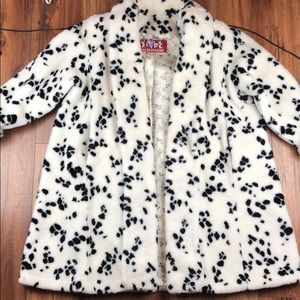 ef4aa912864 Disney 101 Dalmatians faux fur swing coat